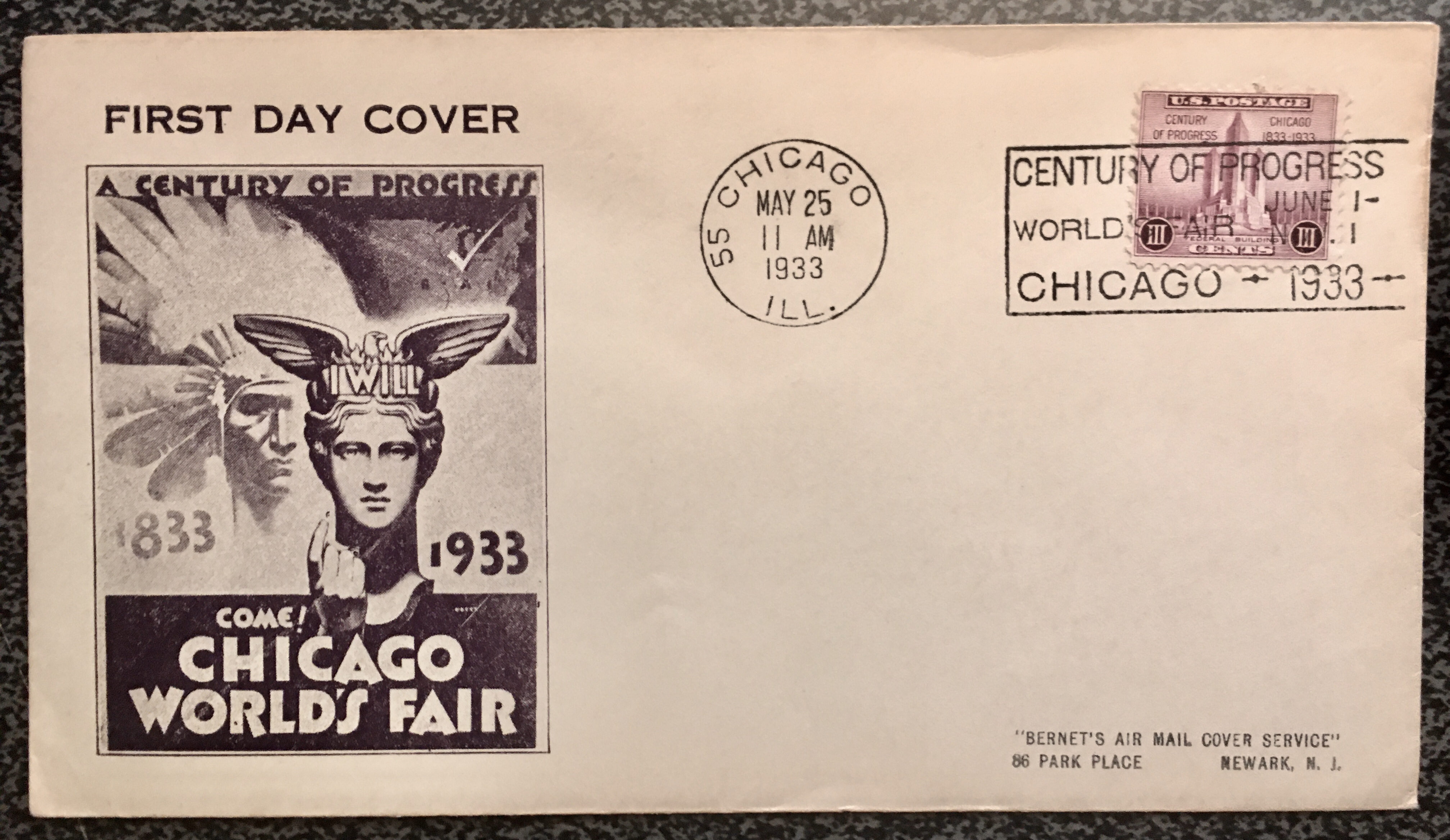 729-1933FDC