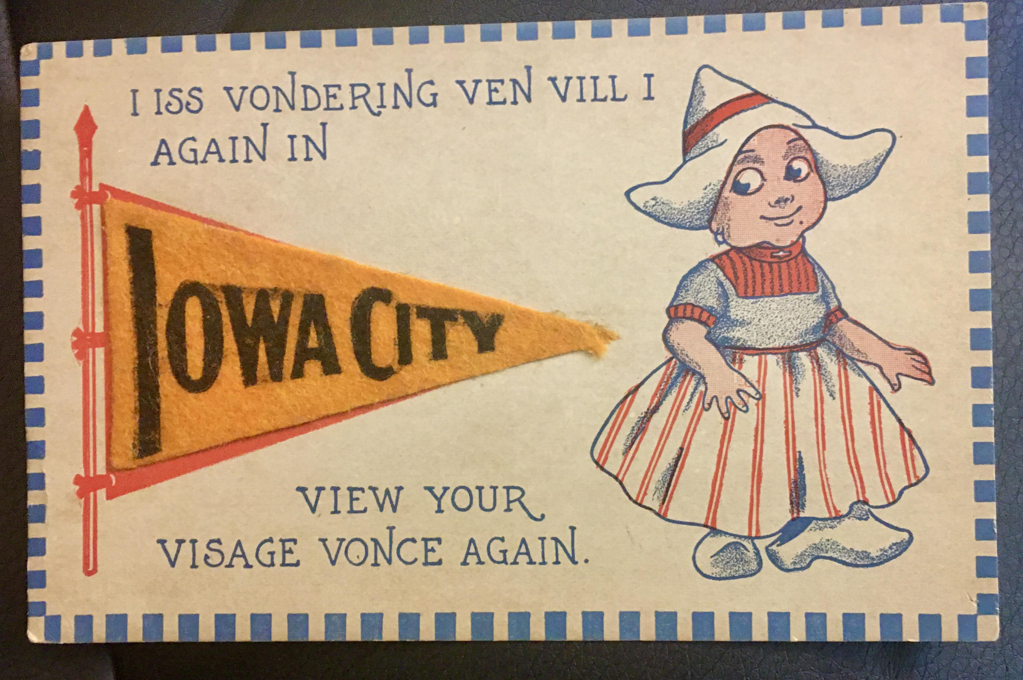 204-1913 Iowa City pennantPC