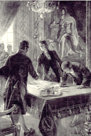 The Signing of the Louisiana Purchase Treaty by Marbois, Livings